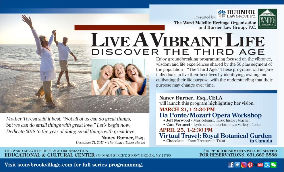 Vibrant Life Flyer - Stony Brook Village Center